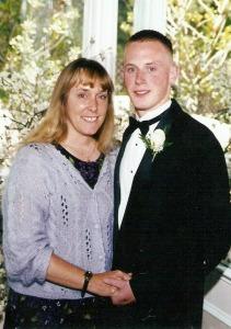 David and me on his wedding day.