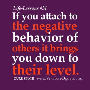 negative behavior